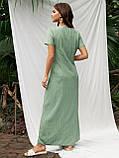 Длинное платье в полоску с коротким рукавом ЛЕТО, фото 4