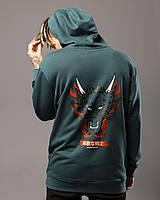 Худі оверсайз Пушка Огонь Dragon колір Ялинка, фото 1