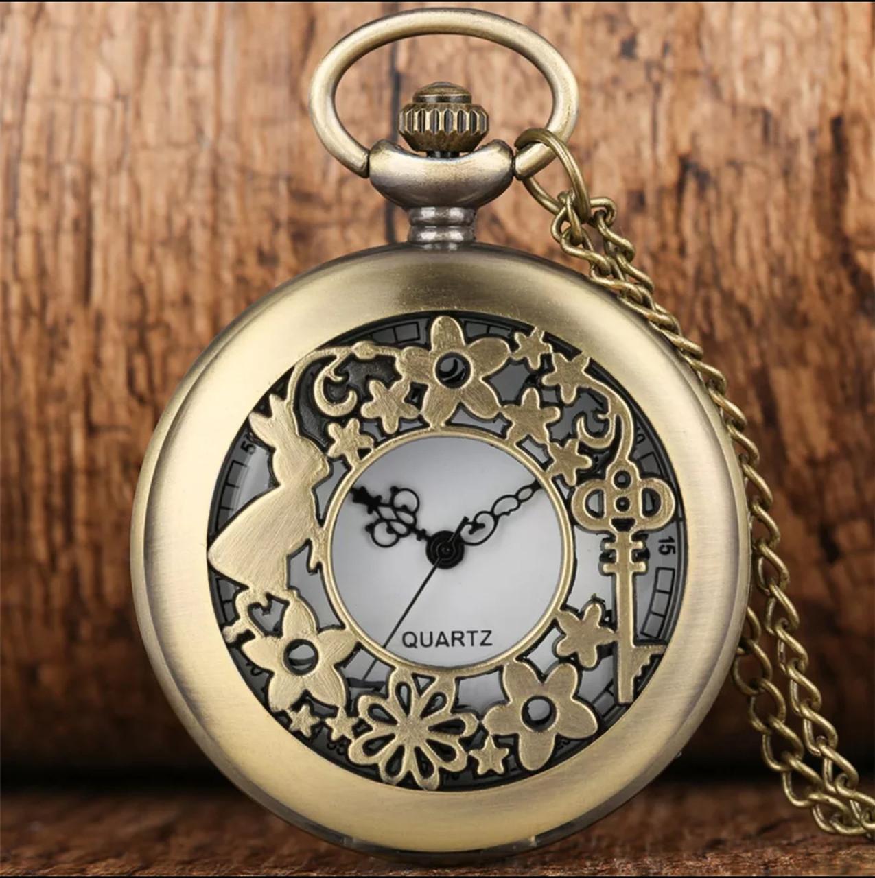 Карманные часы на цепочке Алиса в стране чудес Кролик