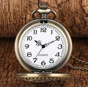Кишеньковий годинник на ланцюжку Аліса в країні чудес Кролик, фото 2