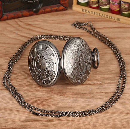 Карманные часы на цепочке Алиса в стране чудес  Дом Кролика, фото 2