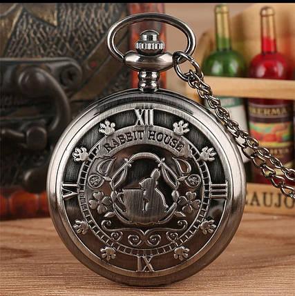 Кишеньковий годинник на ланцюжку Аліса в країні чудес Будинок Кролика, фото 2