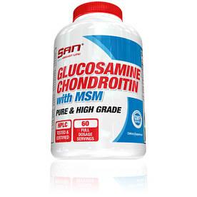 Для суглобів і зв'язок SAN Glucosamine and Chondroitin with MSM 180 таблеток