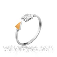 Серебряное кольцо Стрела