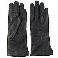Модные женские перчатки ( кожаные , зеленые, зимние, мех шерстяной)