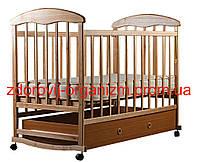 """Детская кроватка с ящиком """"Наталка"""" (светлая)"""