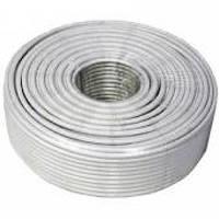 Коаксиальный кабель rg59:  (1, 02 СUAL + 80х0, 12CUAL) + 2x0, 75ммCUAL, белый цвет
