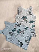 Майка трикотажна дитяча для хлопчика Динозаври від 0-1 до 8-9 років, кольору міксом