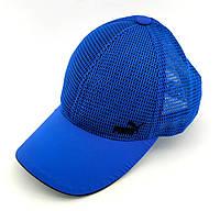 Кепка бейсболка чоловіча Puma Україна 54-58 розмір річна сітка синя (ББ50), фото 1