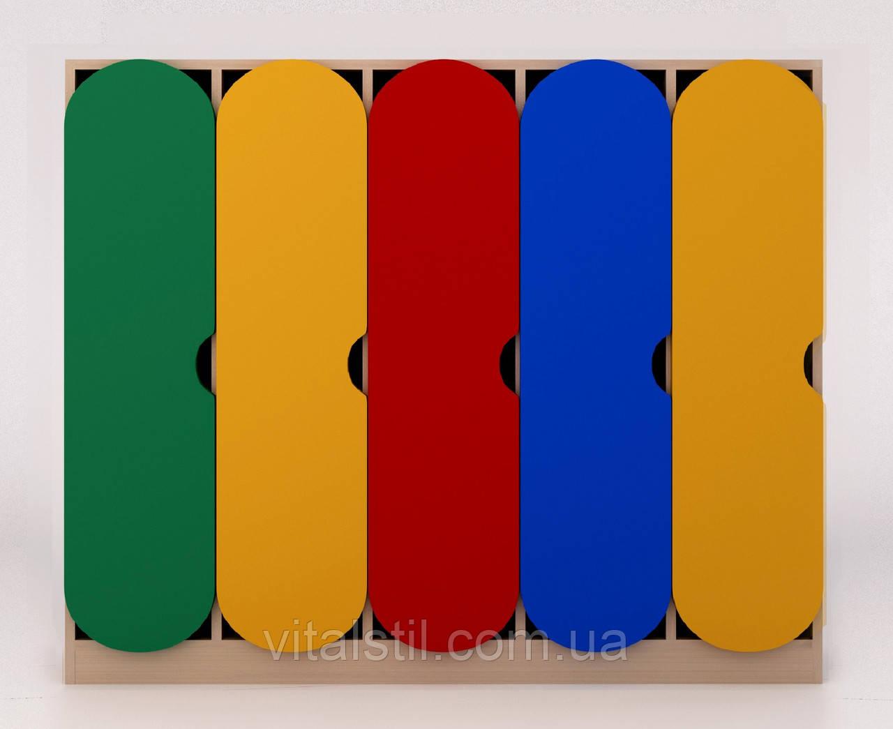 Детский шкаф в раздевалку цветной ДШР-5.1