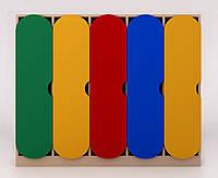 Детский шкаф в раздевалку цветной ДШР-5.1, фото 1