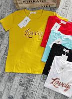 Футболка для девушек LOVELY норма размер 42-46,цвет уточняйте при заказе