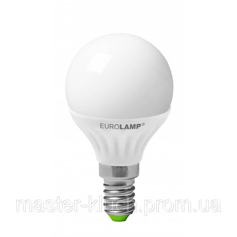 Светодиодная лампа Eurolamp LED Ceramic G50 6W E14 шарик
