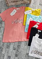 Футболка для девушек VIBESS норма размер 42-46,цвет уточняйте при заказе