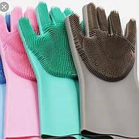 Перчатки Ершик Губка (XL) силикон плотные, фото 1
