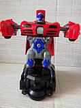 Машинка трансформер Deform Robot музыкальная светящаяся красная для детей, фото 3