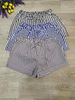 Шорты коттон мелкая полоса для девушек размер норма 44-46,цвет уточняйте при заказе
