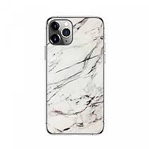 Защитная накладка на смартфона Бело-черный мрамор