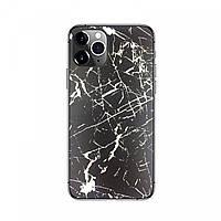Защитная накладка пленка на панель телефона Черно-белый мрамор, фото 1