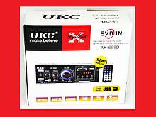 Підсилювач UKC AK-699BT USB Блютуз 300W+300W 2х канальний
