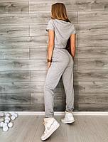 Жіночий літній спортивний костюм з двунити з укороченим топом (Норма), фото 7