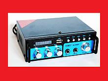 Підсилювач звуку UKC SN-666BT FM USB 2x300W Bluetooth + Караоке