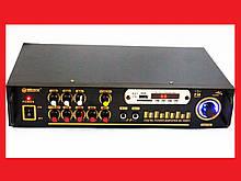 Підсилювач звуку UKC AK-102F + USB + КАРАОКЕ 2микрофона