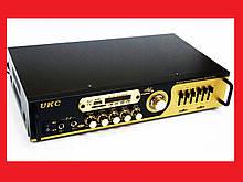 Підсилювач звуку UKC AV-121BT Bluetooth USB + КАРАОКЕ 2микрофона