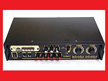 Підсилювач звуку UKC AV-106BT Bluetooth USB + КАРАОКЕ 2микрофона