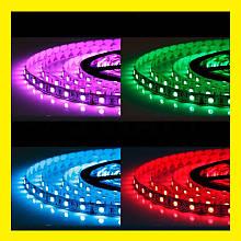 Світлодіодна стрічка LED 5050 RGB комплект 4,5 метрів, різнокольорова