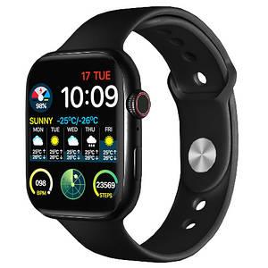 Фитнес браслет трекер Apple watch series 6 копия, Умные спортивные смарт часы с микрофоном для здоровья 44mm