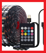 Світлодіодна стрічка 5V USB LED 5050 RGB комплект 5 метрів, різнобарвна (з мікрофоном)