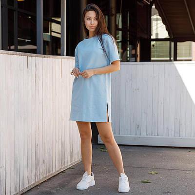 Платье голубого цвета, молодежное, летнее платье, размеры: XS, S, M. ЛЕТО 2021