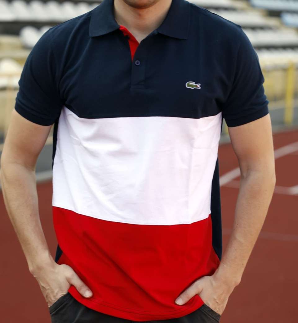 Футболка мужская поло Lacoste (реплика)