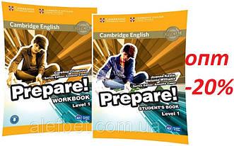 Английский язык / Prepare / Student's+Workbook. Учебник+Тетрадь (комплект), 1 / Cambridge