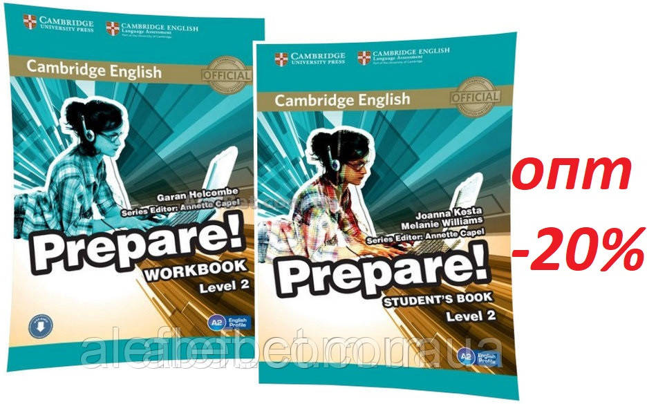 Английский язык / Prepare / Student's+Workbook. Учебник+Тетрадь (комплект), 2 / Cambridge