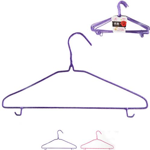 """Вішалка для одягу з силіконовим покриттям """"Стандарт"""" металева 41,5 см (набір 10 шт)"""