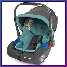 Дитяче автокрісло-бебикокон для новонароджених до 13 кг El Camino Newborn+ синій. Автокрісло для немовлят