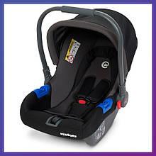 Детское автокресло-бебикокон автолюлька для новорожденных группа 0+ (0-13кг) El Camino ME 1009-2 черное