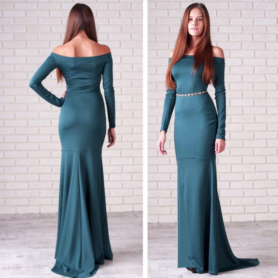 Женские платья цвета морской волны