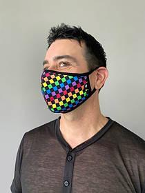 Маска защитная Andrew Christian Pride Checker разноцветная