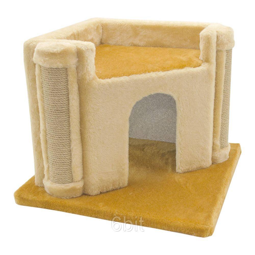 Ігровий будиночок з когтеточку Вежа для кішок