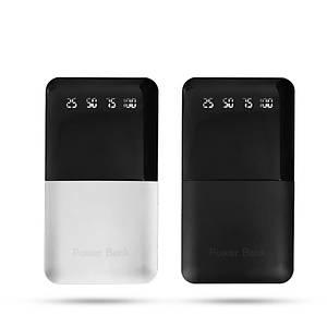 Универсальный мобильный Power Bank JS-191 10000mAh Портативное зарядное устройство с дисплеем С фонариком