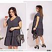 Сукня разклешенное коротке літнє софт 50-52,54-56,58-60,62-64, фото 7