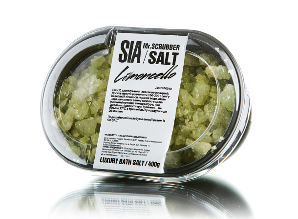Соль для ванны Sia Limoncello Mr.SCRUBBER 400гр