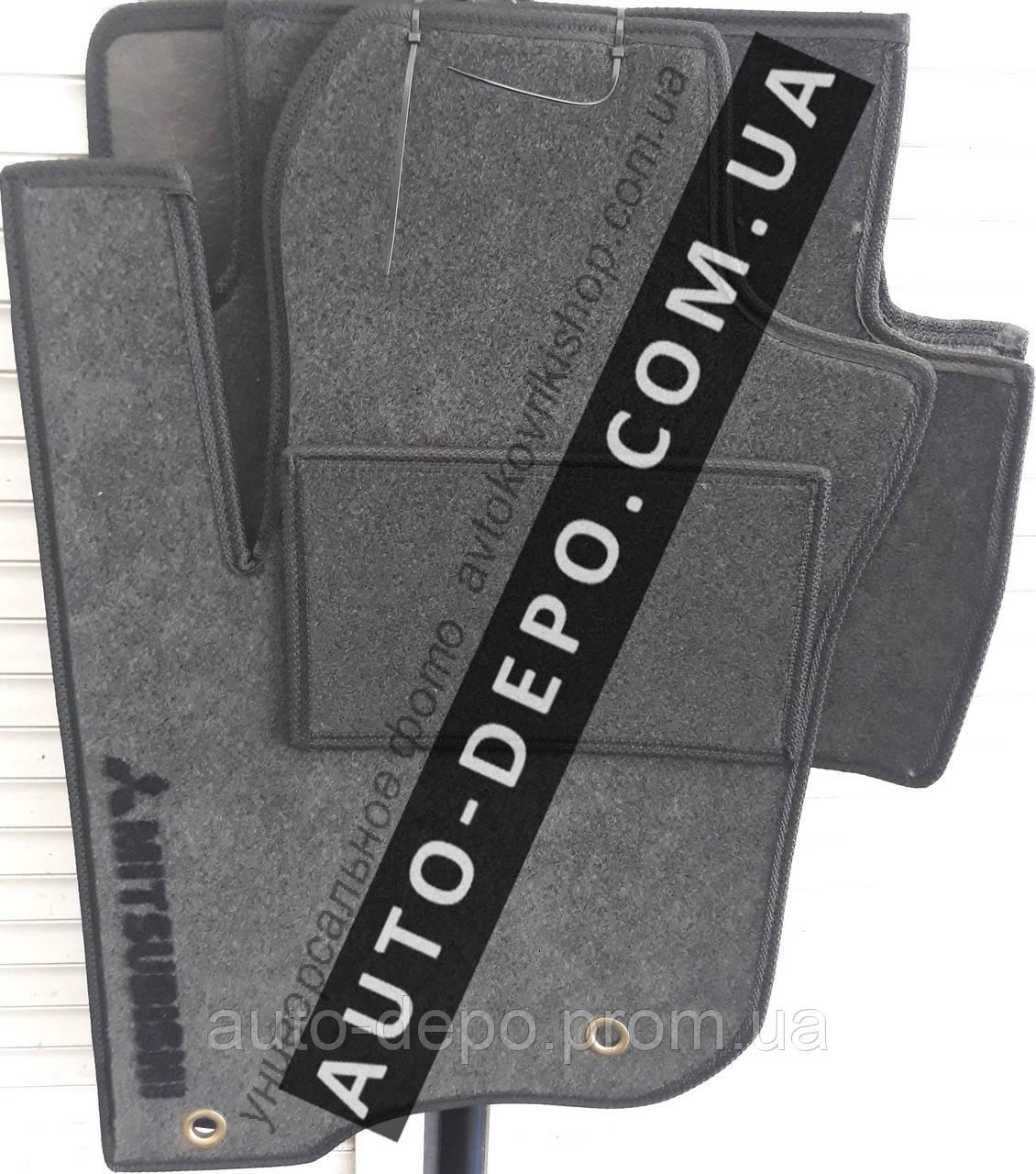 Ворсовые коврики Mitsubishi Outlander 2003- АКП VIP ЛЮКС АВТО-ВОРС