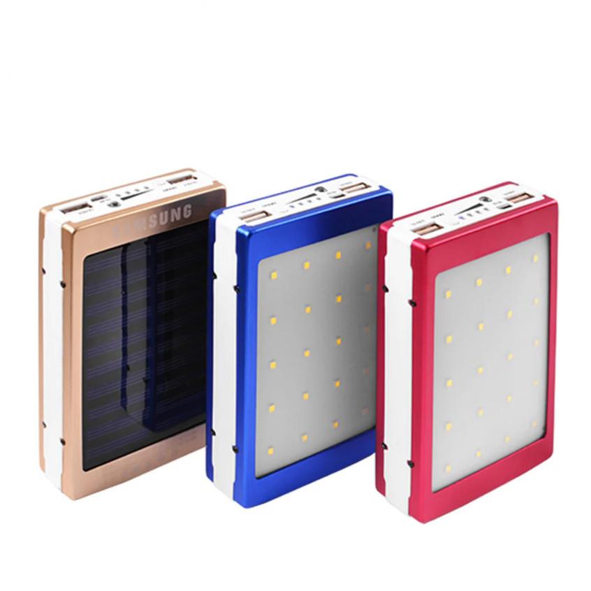 Универсальный мобильный Power Bank Samsung 10000mAh Портативное зарядное устройство на солнечной батарее