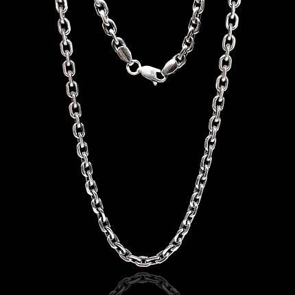 Срібна ланцюжок, 650мм, 50 грам, якірний плетіння, фото 2