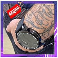 Смарт часы умные Smart Watch Max Robotics ZX-01 Гибрид механика и электроника, черные мужские, фитнесс трекер