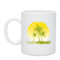 Сувенирная кружка чашка Райский уголок